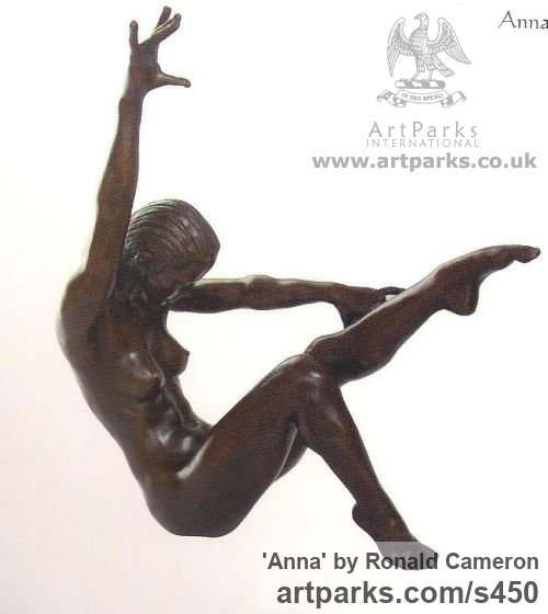 Bronze Females Women Girls Ladies sculpture statuettes figurines sculpture by sculptor Ronald Cameron titled: 'Anna'