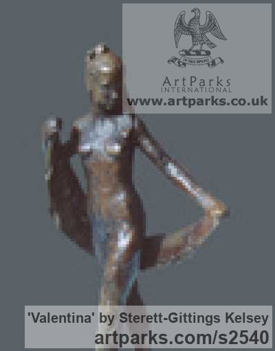 Bronze Females Women Girls Ladies sculpture statuettes figurines sculpture by sculptor Sterett-Gittings Kelsey titled: 'File #276 Valentina' - Artwork View 3