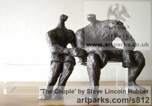 Solid Cold Cast Iron / Bronze Tabletop Desktop Small Indoor Statuettes  Figurines Sculpture By Sculptor Steve