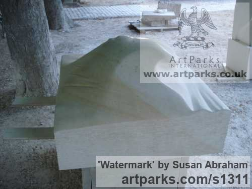 Croatian limestone Garden Or Yard / Outside and Outdoor sculpture by artist Susan Abraham titled: 'Watermark' - Artwork View 4