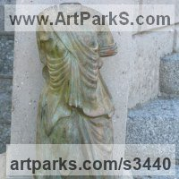 Classical Style Sculpture and Statues by sculptor artist Anon of the East titled: 'Classical Torso (Small Greek/Roman Style Torso garden/Yard/statue)' in Bronze