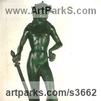 Classical Sculpture and Statues by sculptor artist Anon of the East titled: 'David after Donatello' in Bronze