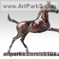 Commemoratives and Memorials Sculpture by sculptor artist Belinda Sillars titled: 'Free Spirit (bronze Little/Small Horse/Pony sculpture/statue/statuette)' in Bronze