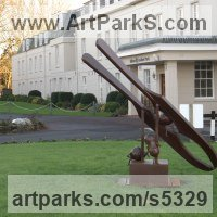 Surrealist Sculpture by sculptor artist Bob Fuller titled: 'Absolute Crackers (Giant Outsize Steel Yard statue)' in Steel