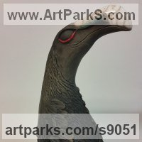 Extinct Animals Sculpture by sculptor artist Bruce Hardwick titled: 'Dodo - Raku' in Ceramic