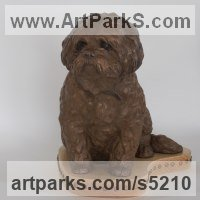 Celebrity and Star Sculpture by sculptor artist Christine Close titled: 'Buster (Memorial Commission Bronze Dog sculptures)'