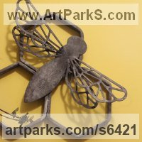 Insect Sculpture, to include Bees, Ants, Moths Butterflies etc by sculptor artist Claudia Petley titled: 'Wall Hung Honeycomb (Forged Steel Wall Decoration sculpture)' in Forged steel