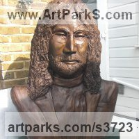 Pop Art Sculpture by sculptor artist Dreene Cotton titled: 'The Boy from Liverpool (bronze resin John Lennon Beatle Indoor Bust)' in Bronze resin