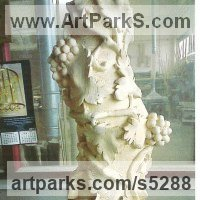 Column Pillar Columnar Stele sculpture statue statuary by sculptor artist Francisco Martin Garcia titled: 'Solomon Column (Carved Wooden Vine Pillar)' in Pine wood