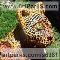 Mosaic Sculpture by sculptor artist Francony Kowalski titled: 'sixth sense' in Concret
