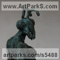 Surrealist Sculpture by sculptor artist Helle Rask Crawford titled: 'Ant! (Half Ant and Half Human Bronze statuette)' in Bronze