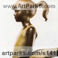 Teenagers Sculpture statuettes Portraits figurines commissions etc by sculptor artist James Butler titled: 'Young Dancer with Tiered Skirt' in Bronze resin
