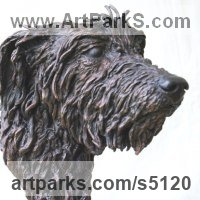 Pet and Animal Portrait Custom or Bespoke or Commission Commemorative or Memoriaql sculpture statue by sculptor artist JOEL Walker titled: 'Celtic Hound (bronze Deer hound life size garden/Yard sculptures art)' in Bronze