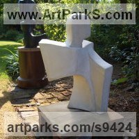 Mixed Media Sculpture, Statues Garden Ornaments by sculptor artist John Brown titled: 'Ascent' in Reconstituted bath stone