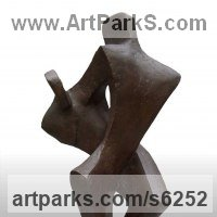 Dance Sculpture and Ballet Sculpture by sculptor artist John Brown titled: 'Jive (Contemporary abstract Dance statue by John Brown)' in Bronze resin