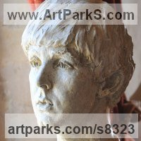 Famous People Sculpture Statues by sculptor artist Lancelot Little titled: 'Yesterday (Young Paul McCartney Portrait Head Bust statue)' in Plaster