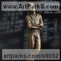 Famous People Sculpture Statues by sculptor artist Laura Lian titled: 'David Bowie (Memorial Tribute Maquette statue sculpture)' in Bronze resin