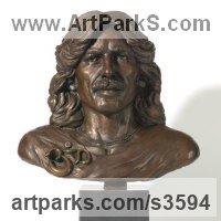 Pop Art Sculpture by sculptor artist Laura Lian titled: 'George Harrison (bronze Bust/Face/Head Portrait sculpture or statue)' in Bronze