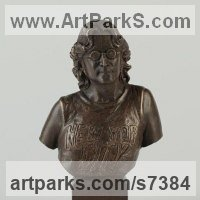 Pop Art Sculpture by sculptor artist Laura Lian titled: 'John Lennon Bust' in Bronze