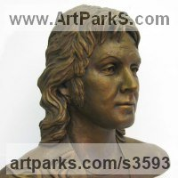 Pop Art Sculpture by sculptor artist Laura Lian titled: 'Paul McCartney (Fine bronze Bust/Head/Portrait sculpture)' in Bronze