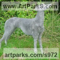 Recycled Materials / Objets trouvees or Upcycle sculpture Statues statuettes by sculptor artist Lucia Corrigan titled: 'Greyhound (Metal Chicken Wire Netting Mesh Standing sculpture/statues)' in Metal