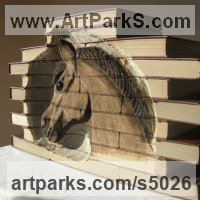 Books by sculptor artist Luke Boam titled: 'Metamorphosis Collection: The Trojan Horse (Carved Books Equine carving)' in Books