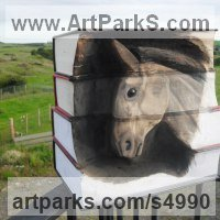 Books by sculptor artist Luke Boam titled: 'Metamorphosis Collection: Elegance (Horse Head sculpture)' in Books