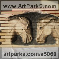 Books by sculptor artist Luke Boam titled: 'War (Carved Warhorse carving sculpture)'