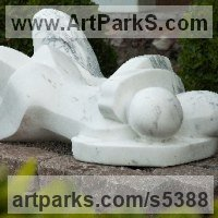 Calm Love and Affection Sculpture or Statues by sculptor artist Mark Yale Harris titled: 'As One (Carved Modern stone abstract Lovers statue)' in Italian carrera marble