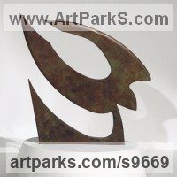 Birds in Flight, Birds Flying Sculpture or Statues by sculptor artist Martin Hayward-Harris titled: 'Bird in flight (abstract Flying Bird statue)' in Copper