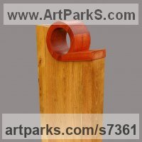 Construction Abstract Sculpture Statues by sculptor artist Modse Dikoff titled: 'il faut oser' in Wood, brass