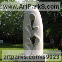 Organic / Abstract Sculpture by sculptor artist Nando Alvarez titled: 'Rain' in Marble carving