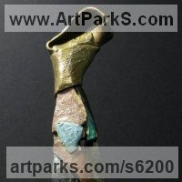Necktie Sculpture by sculptor artist Nicholas B. Daddazio titled: 'Circus 2' in Bronze