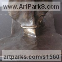 Necktie Sculpture by sculptor artist Nicholas B. Daddazio titled: 'Male Moda' in Bronze