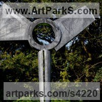 Modern Abstract Contemporary Avant Garde Sculpture or Statues or statuettes or statuary by sculptor artist Nick Moran titled: 'Angel (abstract Modern Contemporary garden Steel sculpture)' in Steel