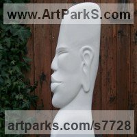 Spiritual sculpture by sculptor artist Nicola Axe titled: 'Meditate' in Portland stone