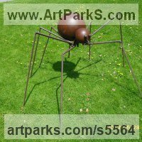 Insect Sculpture, to include Bees, Ants, Moths Butterflies etc by sculptor artist Orhan Rashtana titled: 'Spider (Giant Steel and Wire Insect Yard and garden statues/sculpture)' in Steel