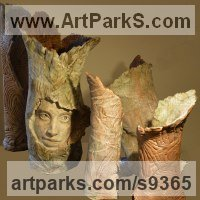 Surrealist Sculpture by sculptor artist Paola Grizi titled: 'enchanted' in Terracotta