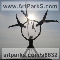 Figurative Public Art Sculpture by sculptor artist Pete Moorhouse titled: 'Together' in Steel