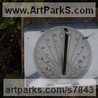 Sundials by sculptor artist Piers Nicholson titled: 'Sundial presented to a Berkshire care home' in Stainless steel