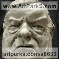 Busts and Heads Sculpture Statues statuettes Commissions Bespoke Custom Portrait Memorial Commemorative sculpture or statue by sculptor artist Richard Austin titled: 'Bust of John Prescott (Satyrical Caricature sculpture)' in Resin composite