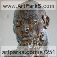 Emotion Sculpture by sculptor artist Rogier Ruys titled: 'SILENCE ~Portait' in Bronze