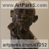 Emotion Sculpture by sculptor artist Rogier Ruys titled: 'LAO TZU ~ Portait' in Bronze or a choice of material