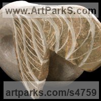 Animal Form: Abstract Sculpture by sculptor artist Sandra Borges titled: 'Arraiolos 2 - Rabo de peixe (abstract Fish stone statue sculpture)' in Stone