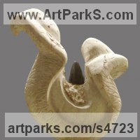 Organic / Abstract Sculpture by sculptor artist Sandra Borges titled: 'Eros 2 - Triunfo (Orgasm Sensual Sexual Erotic Carving statue)' in Stone