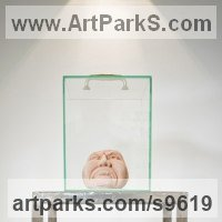 Stylised Heads / Busts Sculpture by sculptor artist Sandra Borges titled: 'Toxic' in Glass and cement
