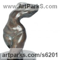 Figurative Public Art Sculpture by sculptor artist Sangeeta Sagar titled: 'Sensuous Existance (Little Sexy abstract Modern female Torso statuette)' in Bronze