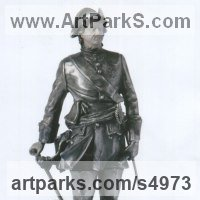Historical Character Statues / Sculpture by sculptor artist Sergey Antonenko titled: 'Peter I (Peter the Great in Armour Miniature Silver statuette/figurine)' in Silver