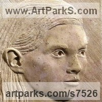 Figurative Public Art Sculpture by sculptor artist Thomas Kenrick titled: 'Amelia 2D' in Limestone stone