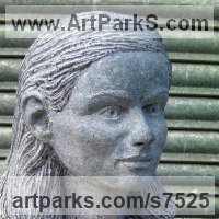 Site Specific Sculpture or Statues by sculptor artist Thomas Kenrick titled: 'Amelia 3D' in Limestone